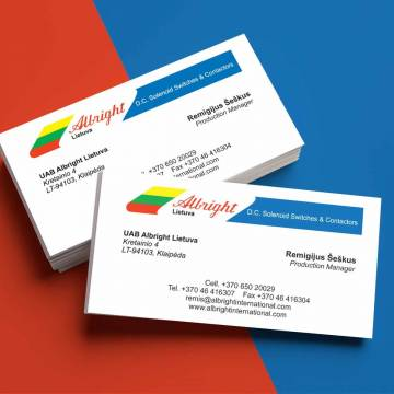 Business card production